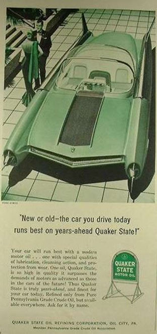 1956 Quaker State Motor Oil Ford Atmos