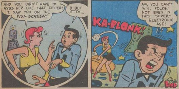 Jetta #5, Dec. 1952 My Cosmic Hero 7 panels 5-6