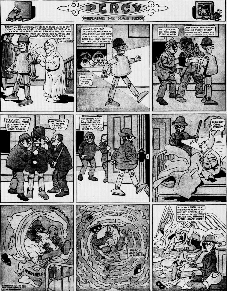 19120121 [Washington, DC] Evening Star, January 21, 1912 Percy mechanical man