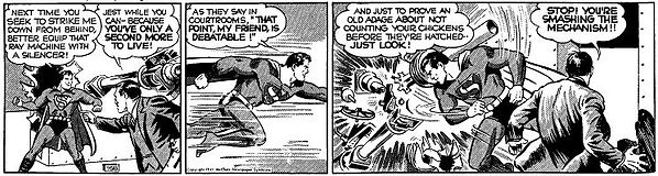 Superman daily strip, June 17, 1941