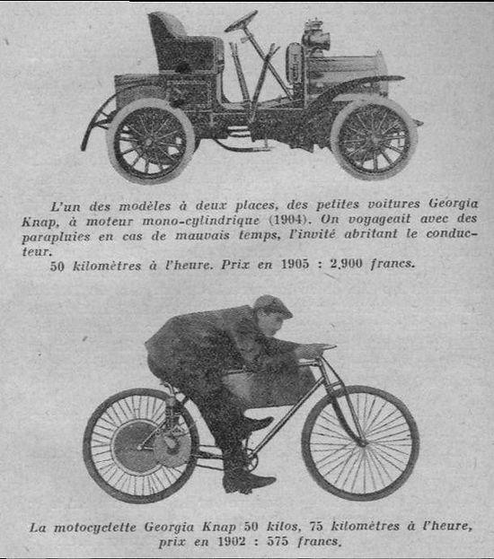 Georgia Knap motorcyle and automobile