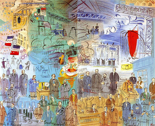 Detail of Raoul Dufy's La Fee Electricite for the 1937 Paris International Exposition