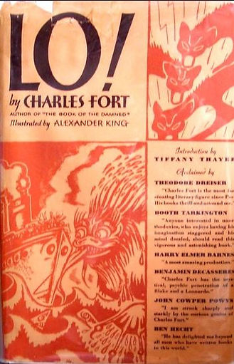 Lo! by Charles Fort, Claude Kendell Books first edition cover 1931