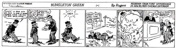 Bungleton Green first appearance, November 20,1920