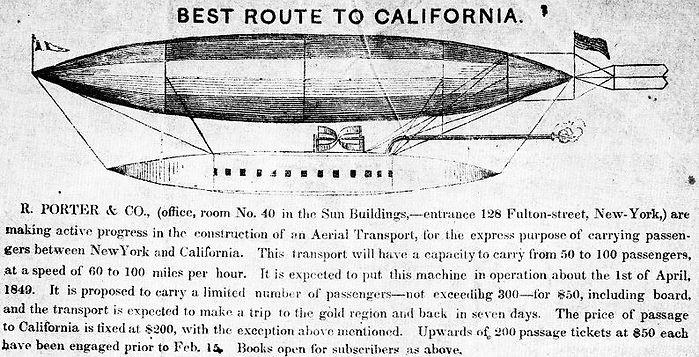 Rufus Porter, Aerial Navigation, 1849, back cover
