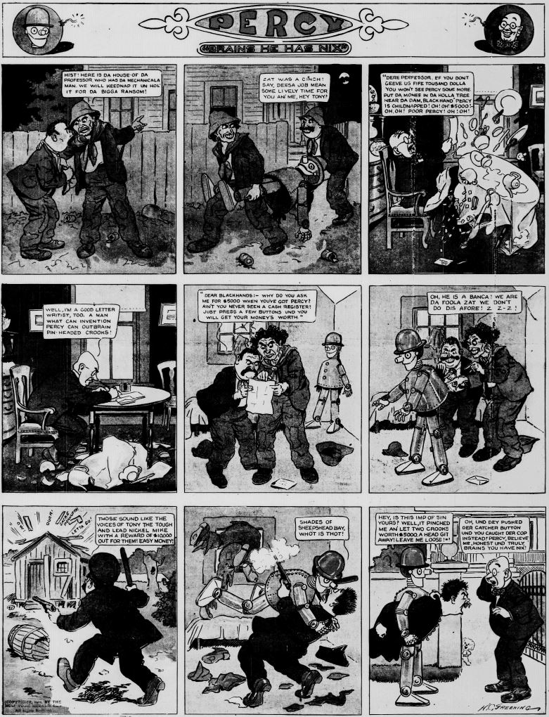 19121013 [Washington, DC] Evening Star, October 13, 1912 Percy mechanical man