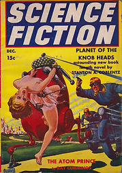Science Fiction pulp magazine, December 1939, cover by Frank R. Paul