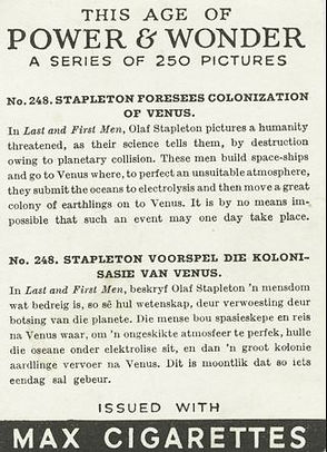 This Age of Power & Wonder #248 Stapleton Foesees Colonization of Venus