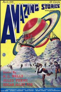 Amazing Stories first issue, April 1926, cover by Frank R. Paul
