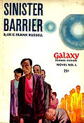 Eric Frank Russell, Sinister Barrier, Galaxy Novel #1, cover by David Stone