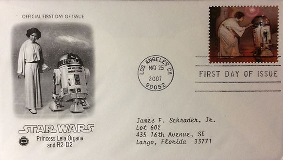 USA 41 cent Star Wars 30th anniversry First Day Cover R2-D2 2007