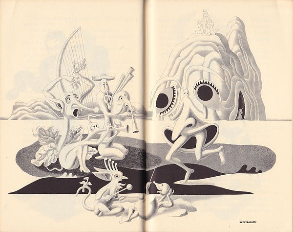 The Circus of Dr. Lao, 1935, illustratio