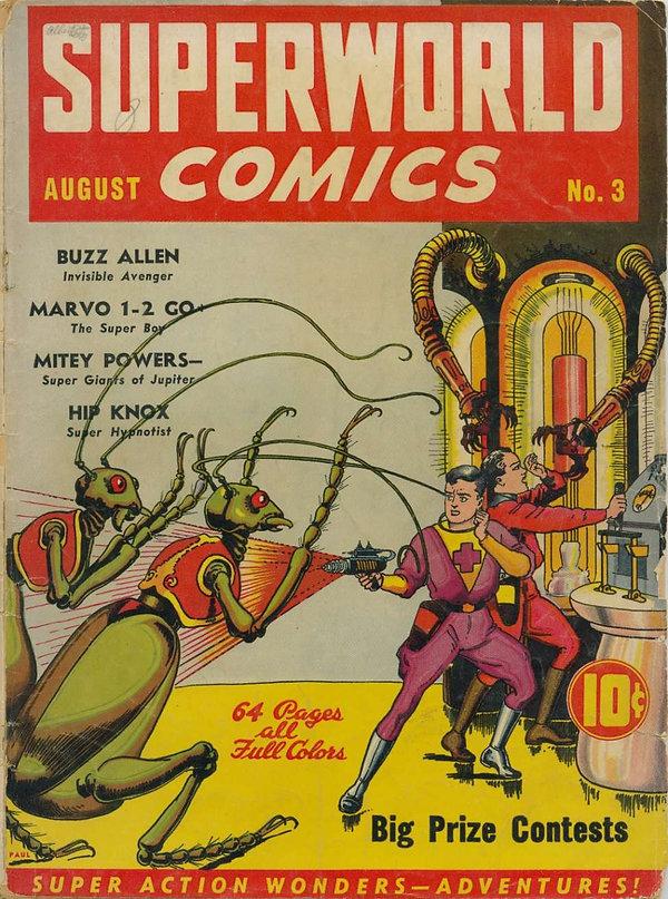 Superworld Comics #3, Aug 1940 cover art