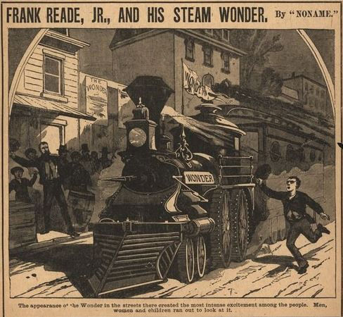 """Frank Reade Jr. and His Steam Wonder"""" (Boys of New York, undated)"""