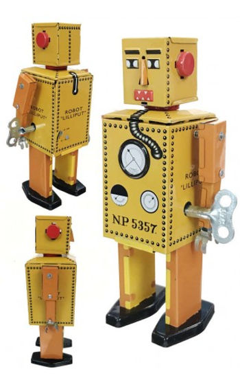 Robot Lilliput, showing side with key