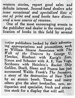 Antiquarian Bookman, June 26, 1948, p.1118 Williams article end
