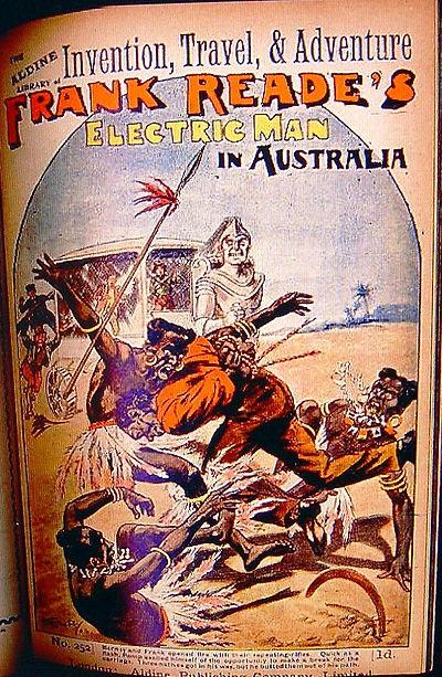 Frank Reade's Electric Man in Australia, Aldine Library of Invention, Travel, & Adventure, #252, 1905