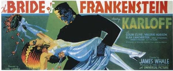 The Bride of Frankenstein, movie poster, 1935