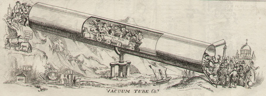 Northern Looking Glass, Sept. 10, 1825, art by William Heath