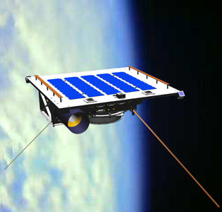 Max Valier X-Ray satellite, as it would look in space