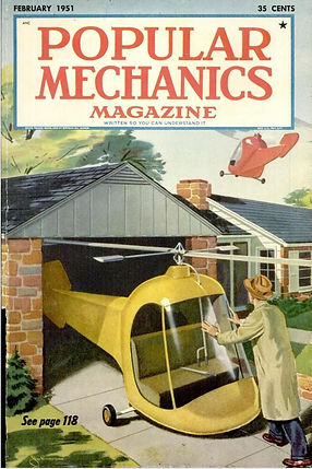Helicopter Coupe, Popular Mechanics, February 1951