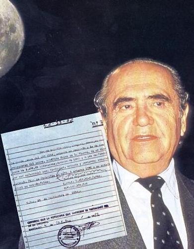 Jenaro Gajardo Vera with moon claim