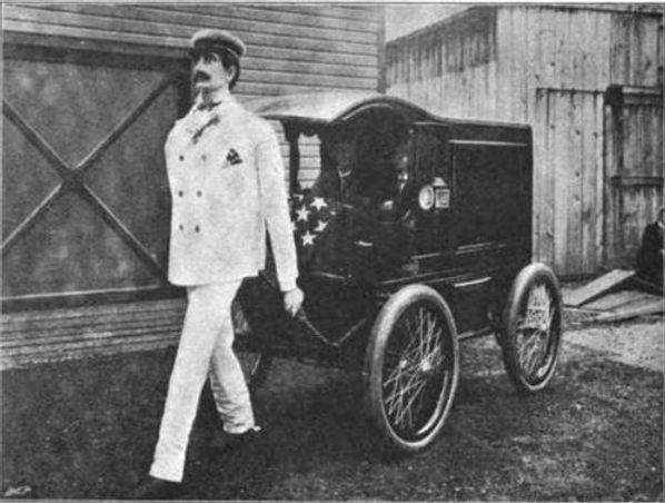 Lewis Perew walking mechenical man, The Strand, November 1900 page 588
