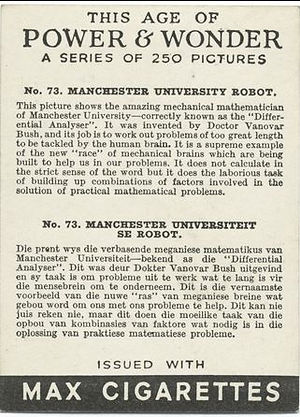 This Age of Power & Wonder #73 Manchester University Robot