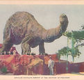 Sinclair Oil Dinosaur exhibit color post