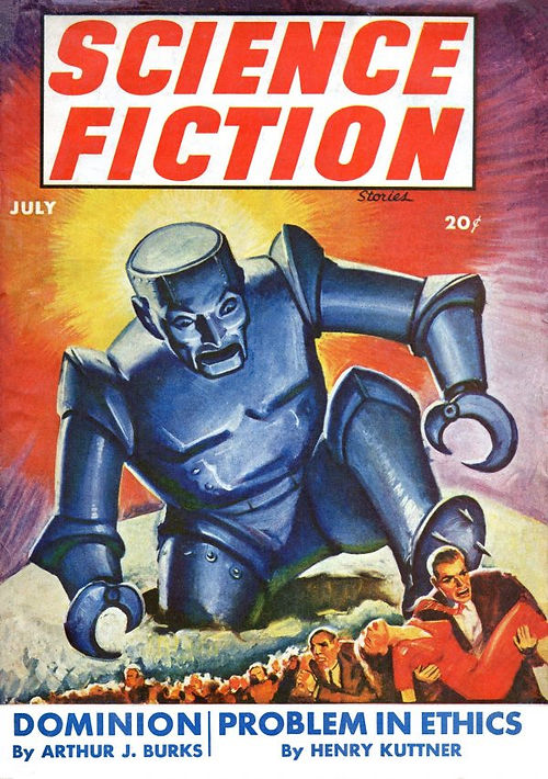 Science Fiction Stories July 1943, cover