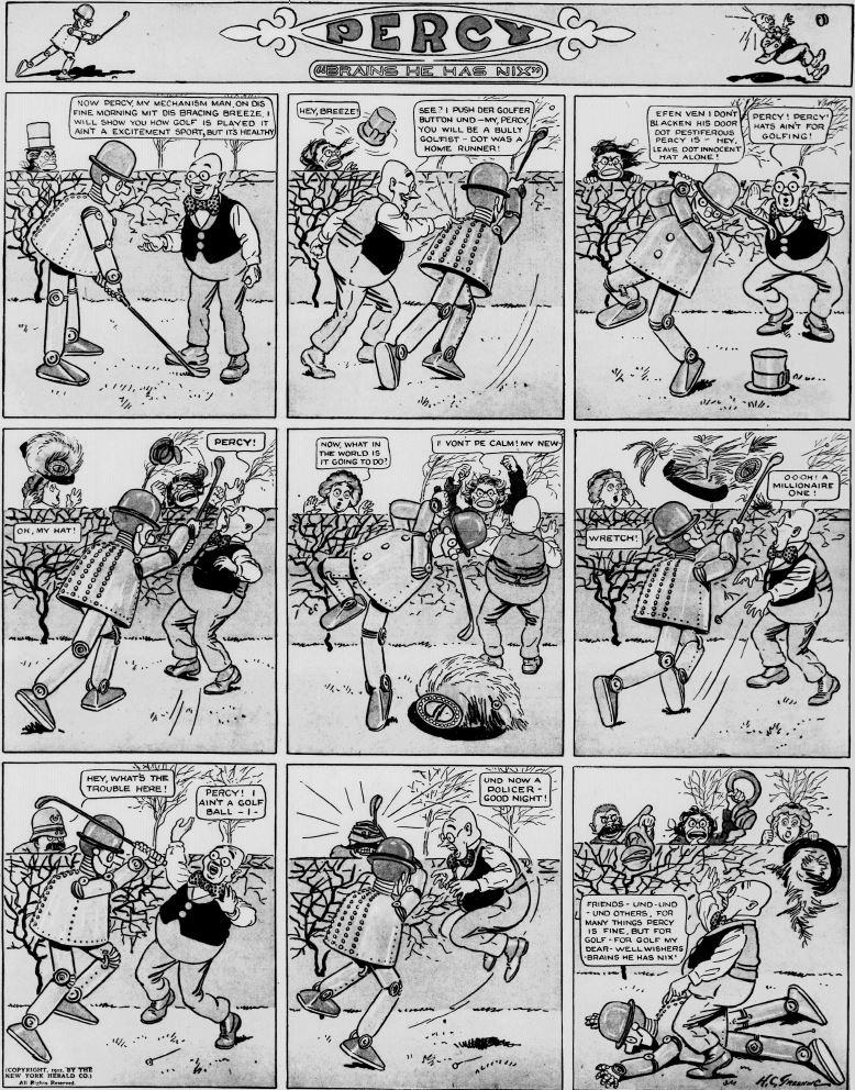 19120331 [Washington, DC] Evening Star, March 31, 1912 Percy mechanical man