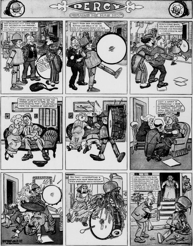 19120526 [Washington, DC] Evening Star, May 26, 1912 Percy mechanical man