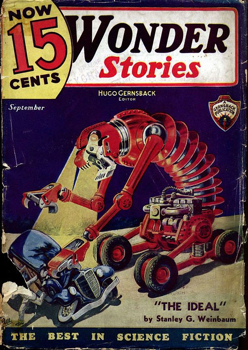 Wonder Stories, September 1935, cover by