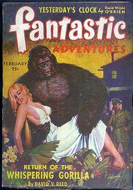 Fantastic Adventures, February 1943, cover art by Robert Gibson Jones