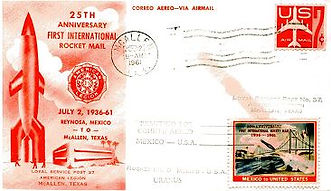 First International Rocket Air Mail 25th anniversary, 1961