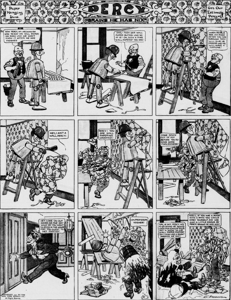 19120908 [Washington, DC] Evening Star, September 8, 1912 Percy mechanical man