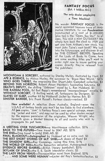 Antiquarian Bookman, June 26, 1948, p. 1112 Wright ad