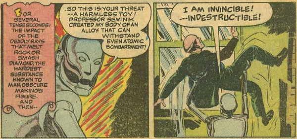 Captain Video #3 June 1951 The Indestructible Antagonist p. 11, panel
