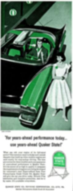1955 Quaker State Motor Oil Ford Mystere