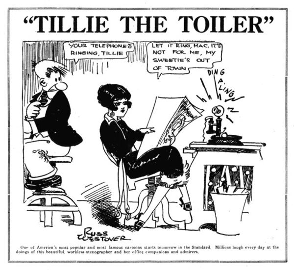 Tillie the Toiler promo cartoon