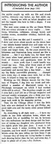 Fantastic Adventures, Oct. 1941, Jay Jackson bio p. 142