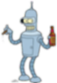 Bender from Futurama, created by Matt Groening 1999