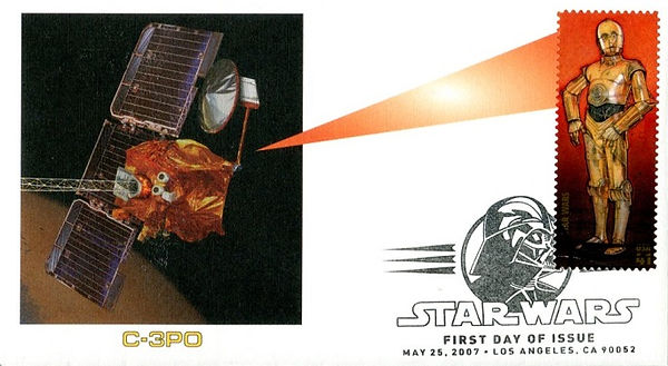USA 41 cent Star Wars 30th anniversry First Day Cover C-3PO 2007