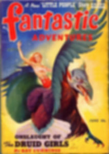 Fantastic Adventures, June 1941. Cover by Harold W. McCauley