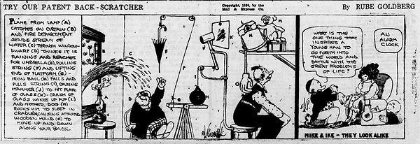 Rube Goldberg Patent Back-Scratcher, Reading Times January 10, 1921