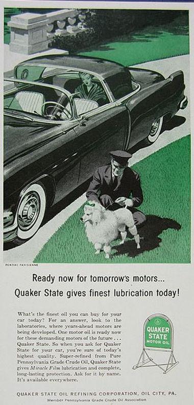 1956 Quaker State Motor Oil  Pontiac Parisienne