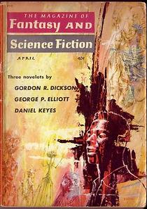 F&SF, April 1960, cover by Emsh [Ed Emshwiller]