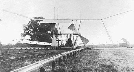 Maxim Flying Machine - Before
