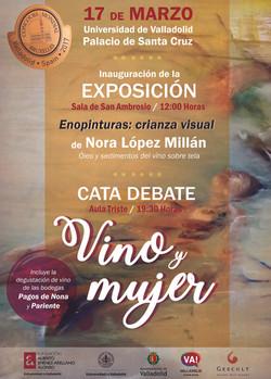 Cartel cata-debate Vino&Mujer