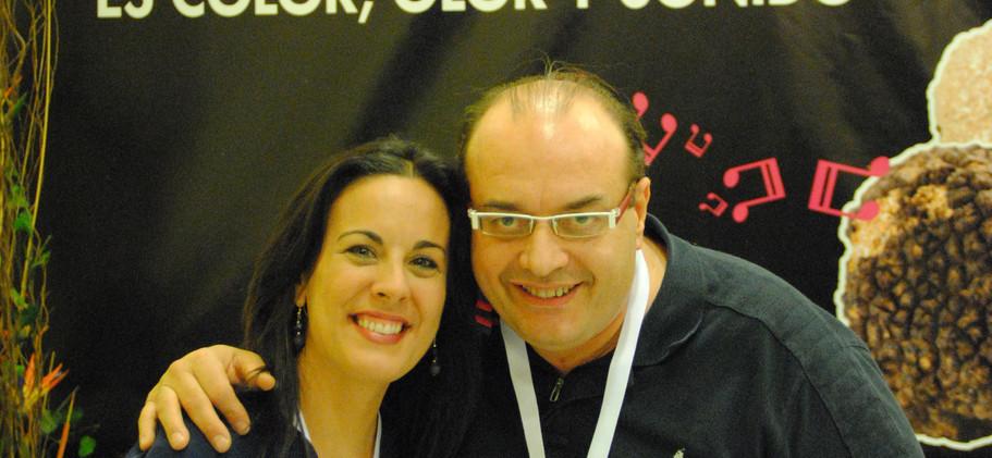 Chef Andrea Tumbarello y Raquel Anaya
